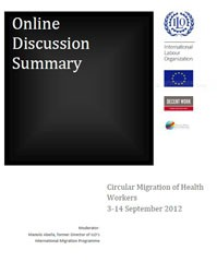 Online Discussion Summary, Circular Migration of Health Workers