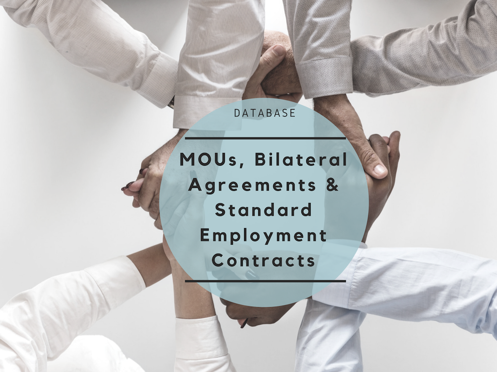 Database of MOUs/BLAs and Standard Employment Contracts