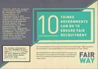 10 Things Governments Can Do to Ensure Fair Recruitment