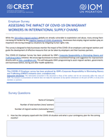 ASSESSING THE IMPACT OF COVID-19 ON MIGRANT WORKERS IN INTERNATIONAL SUPPLY CHAINS