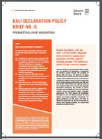 Bali Declaration Policy No. 6