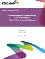 Climate Change and Human Mobility in the Pacific Region: Plans, Policies and Lessons Learned