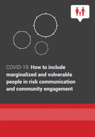 COVID-19: How to include marginalized and vulnerable people in risk communication and com-munity engagement