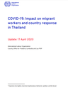 COVID-19: Impact on migrant workers and country response in Thailand
