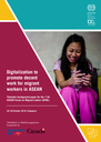 Digitalization to promote decent work for migrant workers in ASEAN