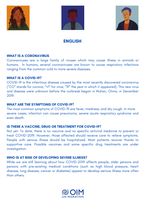 Global IOM - Flyer on COVID-19 for migrants (multiple languages)