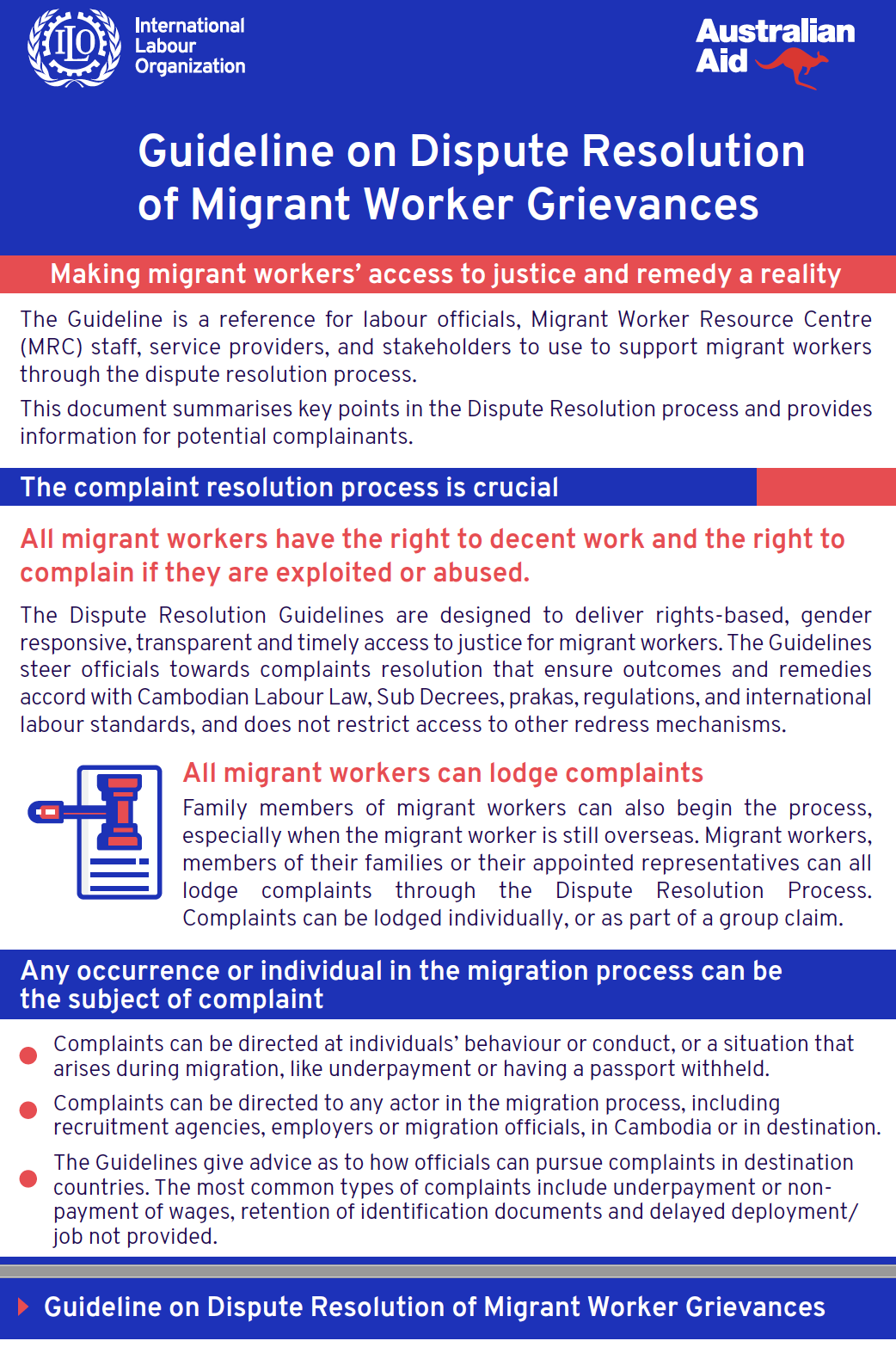Guideline on Dispute Resolution of Migrant Worker Grievances