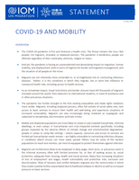 IOM Statement on COVID-19 and Mobility