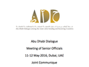 Joint Communique of Abu Dhabi Dialogue Meeting of Senior Officials 11-12 May 2016, Dubai, UAE