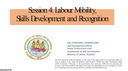 Labour Mobility, Skills Development, and Recognition