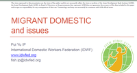 Migrant Domestic and Issues