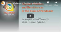 Migrant Workers and Remittances in the Time of Pandemic