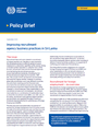 Policy Brief: Improving recruitment agency business practices in Sri Lanka