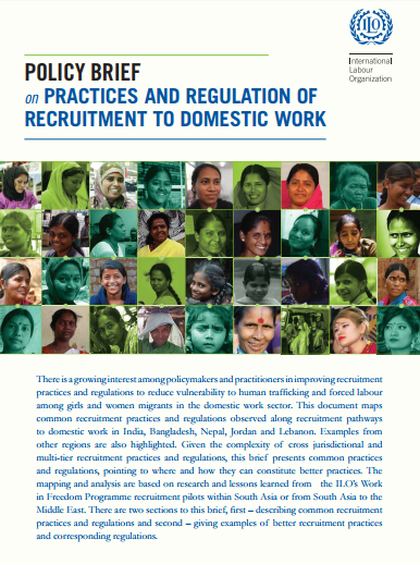 Policy Brief on Practices and Regulations of Recruitment to Domestic Work
