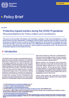 Protecting migrant workers during the COVID-19 pandemic