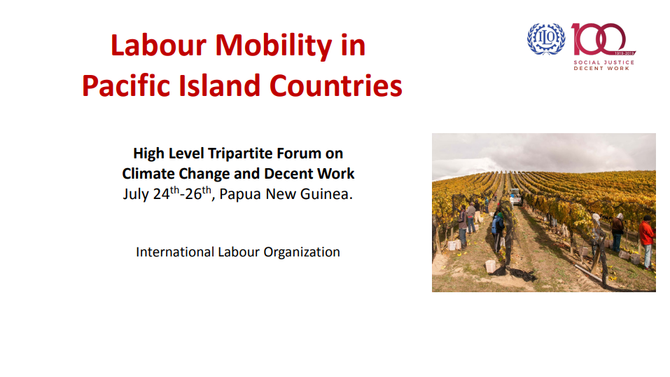 Session 3: Presentation - Labour Mobility in Pacific Island Countries