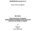 Sri Lanka: good practices to prevent women migrant workers from going into exploitative forms of labour