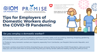 Thailand - Infosheet for Employers of Domestic Workers during COVID-19 (English)