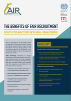 The benefits of fair recruitment - Results of the impact study on the Nepal-Jordan corridor