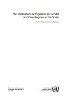 The Implications of Migration for Gender and Care Regimes in the South
